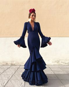 Deep V Neck Long Prom Dress , Charming Prom Dress Full Toned Spanish Dress, Spanish Style, Prom Dresses, Bridesmaid Dresses, Wedding Dresses, Mermaid Skirt, Red Carpet Looks, Look Fashion, Dress For You