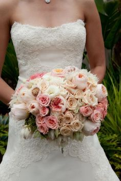 Fancy That! Events, Blush Bouquet, Pink Floral, Bride Bouquet, Roses, Lush