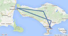Bali Itinerary Map