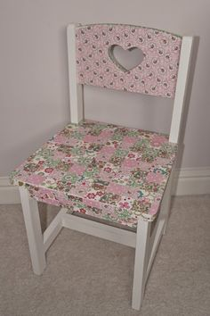 Personalized decoupage childrens chair