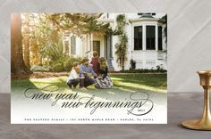 """""""New Beginning"""" - Full-Bleed Photo New Year Photo Cards in Onyx by Beth Schneider."""