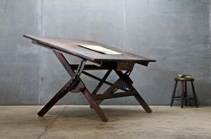 ( gorgeous and classic drawing desk )  I want one as well! gorgeous!