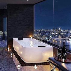 #Styleloftz Home Live | Laugh | Love #Modern #Luxury #Baths #Luxuriate #Stylistically #AllMarble #Floors #NextLevel #Tub #Gallery #Window #Wall #Candlelight #Epic #City #Views #AdultSexy #Vibes #Cocktails #Entrepreneurs #Build #Fly #Styleloftz #Lifestyles