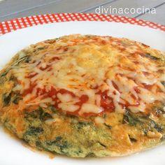 tortilla de espinada gratinada