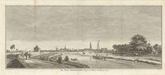 Jan Caspar Philips | Gezicht op Amersfoort, Jan Caspar Philips, 1756 | Gezicht op Amersfoort, gezien vanaf de oever van de rivier de Eem.