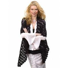 Ravelry: Openwork Wrap pattern by Lisa Gentry free Crochet Wrap Pattern, Crochet Cardigan, Crochet Scarves, Crochet Clothes, Crochet Patterns, Knitting Patterns, Lace Scarf, Crochet Crowd, Free Crochet