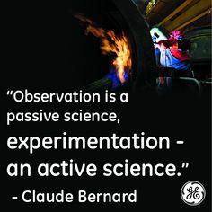 Observation --> Experimentation --> Innovation