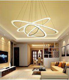 Nieuwe aangekomen Moderne plafond verlichting woonkamer Slaapkamer gang thuis plafondlamp acryl body LED hanger plafondlamp
