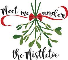 Cute Christmas Mistletoe SVG design from One Oak Designs