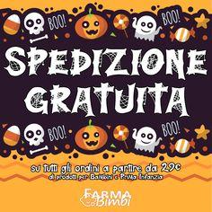 Spedizione Gratuita per tutta la settimana di Halloween con una spesa di almeno 29€ di prodotti per bambini e per la prima infanzia. Halloween Week, Character