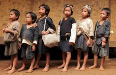 Baduy Children Traditional Cloth, Indonesia.
