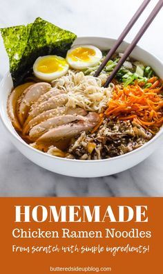 Make it from scratch for a healthy treat. Asian Recipes, Real Food Recipes, Soup Recipes, Healthy Recipes, Ethnic Recipes, Japanese Recipes, Ramen Noodle Soup, Ramen Noodles, Homemade Ramen
