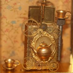 JDayMinis, Life, Antique Inspiration, Freebies: Steampunk Inventor's Room, some close up photos