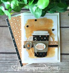 Stampin' Up! Merry Cafe Coffee Love Card - Peggy Noe - stampinup