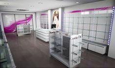 Pharmacy Design, Makeup Store, Display Shelves, Store Design, Portugal, Mobile Shop, Interior Design, Closet, Design Ideas