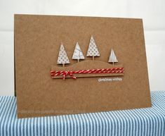 handmade Christmas card from I Dream in Paper: Muse Challenge . die cut landscape line with triangle trees colored in white Christmas Cards 2018, Simple Christmas Cards, Christmas Card Crafts, Homemade Christmas Cards, Xmas Cards, Homemade Cards, Handmade Christmas, Holiday Cards, Christmas Wishes