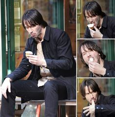 WHY DO WE LOVE KEANU? Because this man enjoys delicious cupcakes like we enjoy delicious cupcakes! (chicfoo) keanu