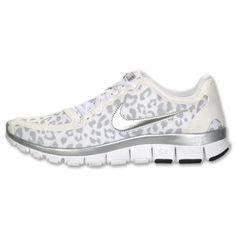 huge selection of 31c4d 057c0 Nike Free 5.0 V4 women sneakers in white cheetah   leopard, wolf grey    silver  Nike  RunningCrossTraining