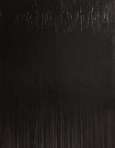 «Noir lumière 28031618», 2018 mortier, pigments sur toile  146x114cm
