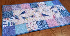 Quilted Table Runner, Handmade Quilted Centerpiece, Free Face Mask, Reversible Table Runner, Patchwork Table Runner, Dresser Scarf