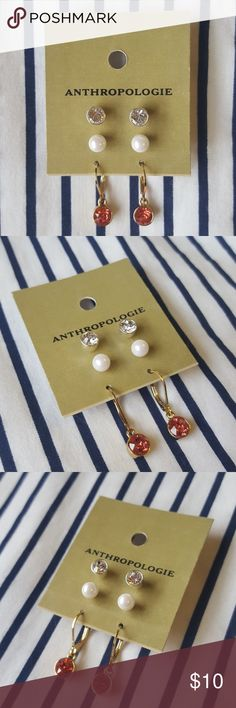 NWT Anthropologie Earring Set NWT Anthropologie Earring Set.  Brand new, never worn.  Offers welcome! Anthropologie Jewelry Earrings