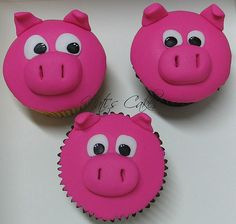 I LOVE making cupcakes! I am hoping to make these for my little girls birthday party! Pig Cupcakes, How To Make Cupcakes, Cupcake Cakes, Making Cupcakes, Second Birthday Ideas, Girl 2nd Birthday, 2nd Birthday Parties, Pig Roast, Bird Cakes