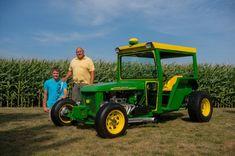 This is my Dad Gene Brass and my son Braden Ortman. Old Tractors, John Deere Tractors, Lawn Tractors, Tractor Weights, Tractor Pulling, Parcs, Kustom, Fire Trucks, Hot Cars