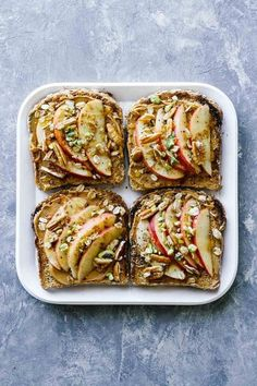 Toast Ideas apple cinnamon peanut butter toast