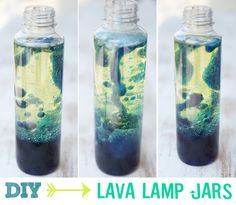 Easy lava lamps in water bottles. Fun for kids and quick and cheap, too!