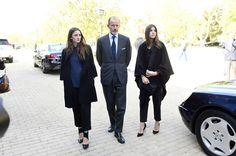 Hola!-Funeral of Crown Prince Kardam of Bulgaria, San Isidro, Spain, March 8, 2015-Kardam's brother Prince Kyril with his daughters Princess Mafalda and Princess Olimpia