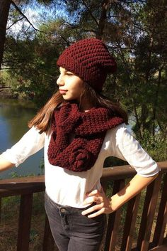 Handmade Infinity Scarf Gift  Crochet Scarves with by MariARTStore