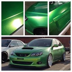 Follow @Metro Restyling • Pictures do not do this color justice but here is @thatboostedchick wrx all wrapped by @wrap_specialties in @3mgraphics green envy and laminated with @kpmfusa gloss gold starlight   • #metrorestyling #kingsofvinyl #elitewrappers #wrapoverpaint #paintisdead #justwrapit #itsawrap #carwrap #carwraps #vinylwrap #wrapsupplier #wrappedcars #vinylwrapping #killthatpaint #wrappedworld #eatsleepwrap #wrapchannel #car #wrap #vinyl #cars #supplier