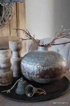 Oude waterpot metaal