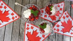 Oh Canada! Easy Red and White Dessert.