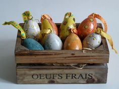 Easter eggs in Raku - various designs and colours - actual egg size