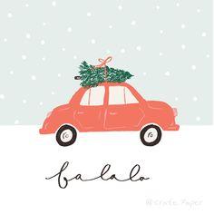 """fa la la"" // Merry Days // Crate Paper - l - Christmas Mood, Merry Little Christmas, Christmas Quotes, Christmas Design, Vintage Christmas, Christmas Crafts, Christmas Decorations, Christmas Recipes, Christmas Cookies"