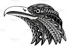 Hand Drawn head of eagle. by frescomovie on @creativemarket