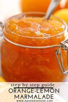 Bright and citrus-filled, homemade orange lemon marmalade will brighten any winter's morning. With a bit of preparation now, you can easily make and preserve this marmalade then enjoy it in the months to come. Citrus Recipes, Jelly Recipes, Orange Recipes, Jam Recipes, Canning Recipes, Fruit Recipes, Sauce Recipes, Orange Marmalade Recipe, Lemon Marmalade