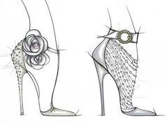 Shoe Illustration :: Kate Middleton's Wedding Shoe Design by Unknown Artist