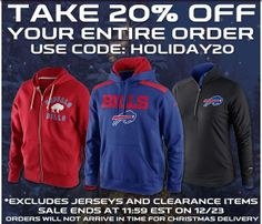Grab some last minute holiday gifts at the Bills Store! Buffalo Bills 09bb589dd