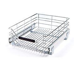 Seville Classics Chrome Wire Sliding Storage Drawer