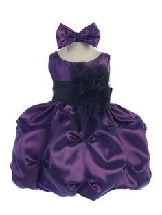 18ec2b8c8d0 Plum Pick Your Sash Taffeta Baby Dress Purple Baby