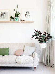 chic living room corner.