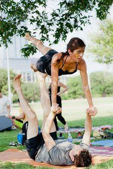 fitness on pinterest  couple yoga crossfit and partner yoga