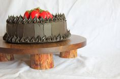 20 Inch Rustic Cake Stand Rustic Wedding Cake by susieswoodshop
