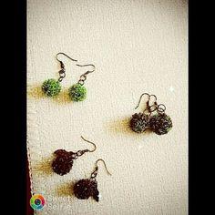 #handmade takı #tel kıvırma çalışması küpeler