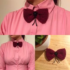 Casual Bow Tie Broch - handmade knitted from bowtieSimo by DaWanda.com