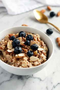 I'm always on the hunt for new breakfast options and this millet and quinoa with dates and almonds is a superb, healthy vegan breakfast option.