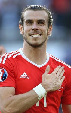 #EURO2016 Gareth Bale of Wales celebrates the victory following the UEFA EURO 2016 round of 16 match between Wales and Northern Ireland at Parc des Princes on...