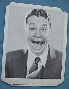 Joe E. Brown ,Silent Screen Autographed Picture 1891 - 1973